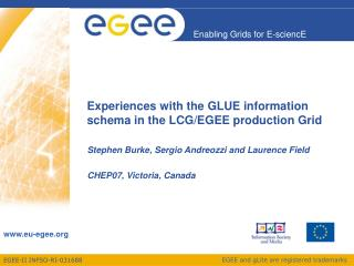 Experiences with the GLUE information schema in the LCG/EGEE production Grid