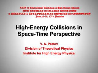 High-Energy Collisions in Space-Time Perspective