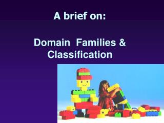 A brief on:  Domain  Families & Classification