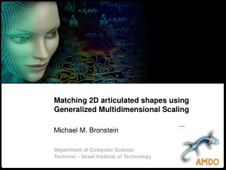 Matching 2D articulated shapes using Generalized Multidimensional Scaling