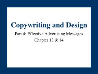 Copywriting and Design