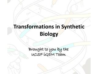 Transformations in Synthetic Biology