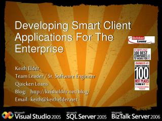 Developing Smart Client Applications For The Enterprise