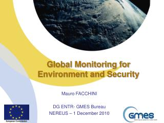 Global Monitoring for  Environment and Security
