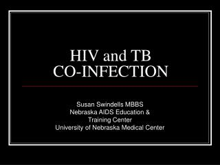 HIV and TB  CO-INFECTION