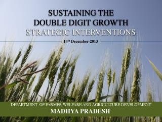 SUSTAINING THE DOUBLE DIGIT GROWTH STRATEGIC INTERVENTIONS