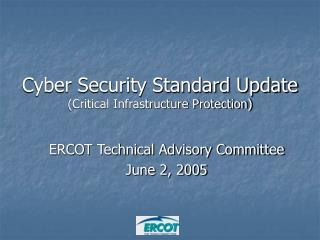ERCOT Technical Advisory Committee June 2, 2005