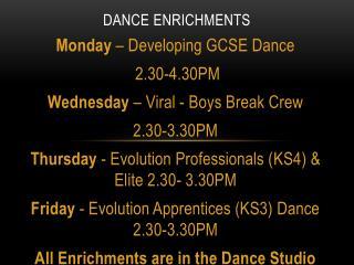 Dance Enrichments