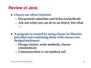 Review of Java