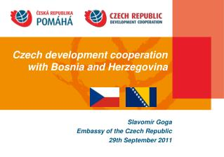 Czech development cooperation  with Bosnia and Herzegovina