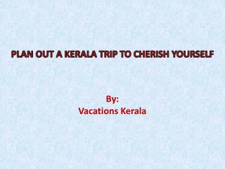 Reasonable Holiday Packages For Kerala