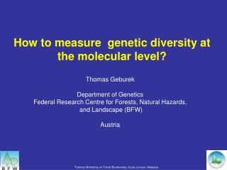 How to measure  genetic diversity at the molecular level?