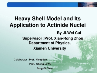Heavy Shell Model and Its Application to Actinide Nuclei
