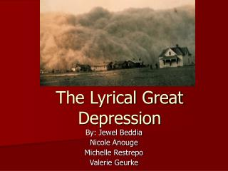 The Lyrical Great Depression