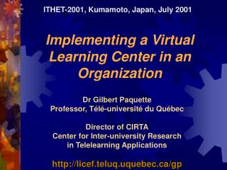 Implementing a Virtual Learning Center in an Organization