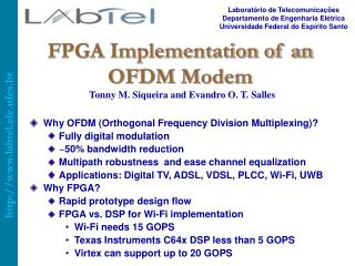 FPGA Implementation of an OFDM Modem