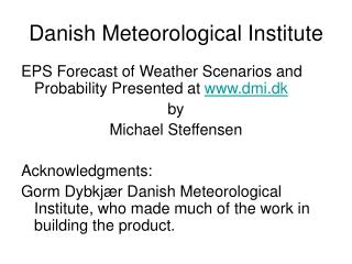 Danish Meteorological Institute