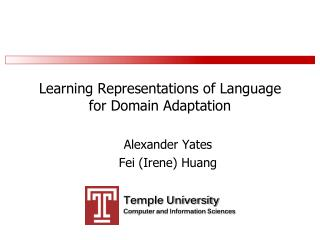 Learning Representations of Language  for Domain Adaptation