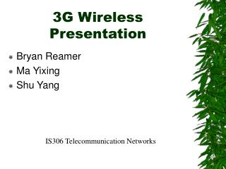 3G Wireless Presentation