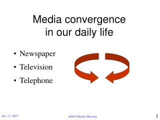 Media convergence in our daily life