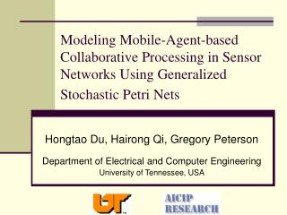 Hongtao Du, Hairong Qi, Gregory Peterson Department of Electrical and Computer Engineering