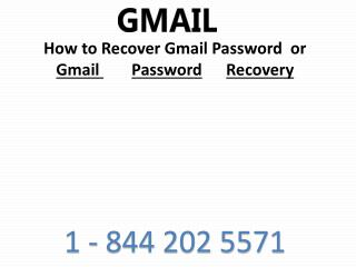 Gmail Tech Support Phone Number USA, Canada |1-844-202-5571