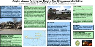 Graphic Vision of Environment Threat in New Orleans Area after Katrina