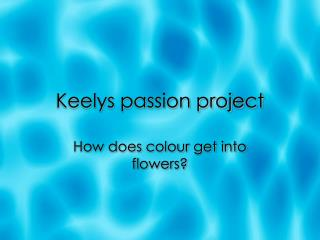Keelys passion project