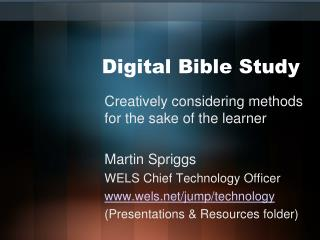 Digital Bible Study