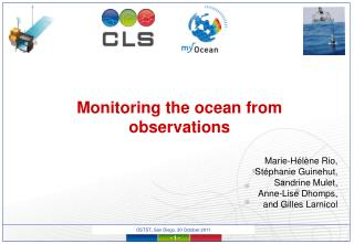 Monitoring the ocean from observations
