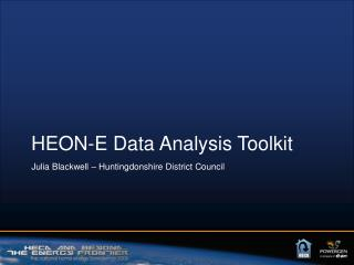 HEON-E Data Analysis Toolkit