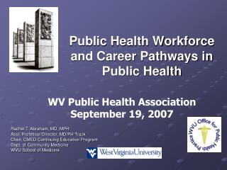 Public Health Workforce and Career Pathways in Public Health