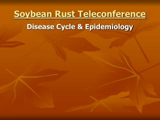 Soybean Rust Teleconference