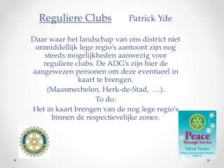 Reguliere  Clubs Patrick Yde