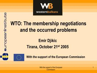 WTO: The membership negotiations and the occurred problems