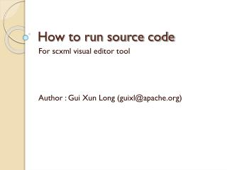 How to run source code