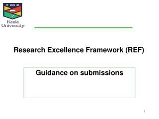 Research Excellence Framework (REF)