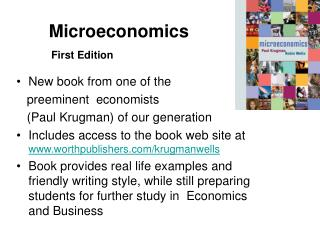 Microeconomics  First Edition