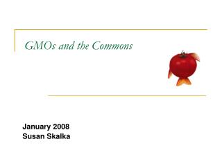 GMOs and the Commons