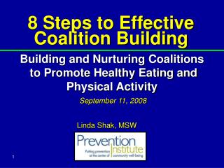 8 Steps to Effective Coalition Building