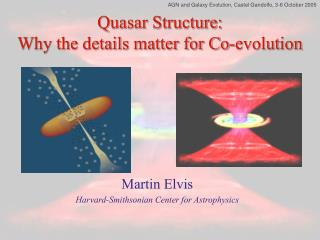 Quasar Structure: Why the details matter for Co-evolution