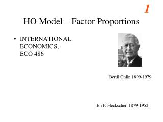 HO Model – Factor Proportions