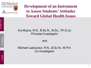 Development of an Instrument  to Assess Students' Attitudes  Toward Global Health Issues