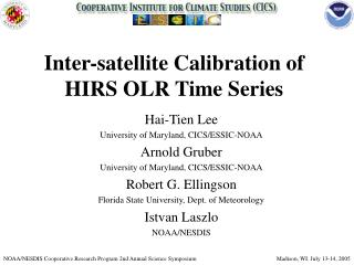 Inter-satellite Calibration of  HIRS OLR Time Series