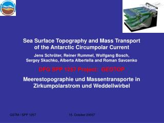 Sea Surface Topography and Mass Transport of the Antarctic Circumpolar Current