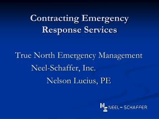 Contracting Emergency Response Services