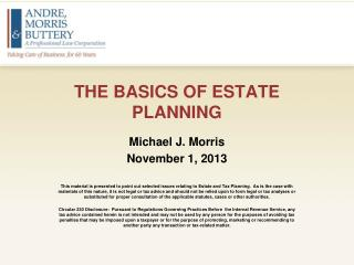 THE BASICS OF ESTATE PLANNING