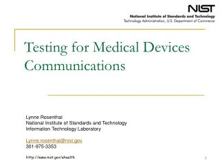 Testing for Medical Devices Communications