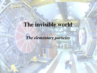 The invisible world The elementary particles