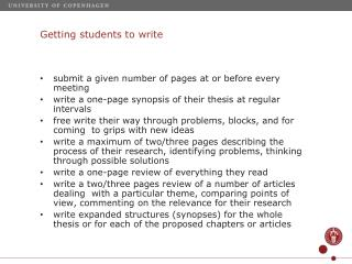 Getting  students to  write
